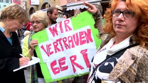 Demo pro Geri Müller – Teilnehmer haben genug von Selfie-Affäre