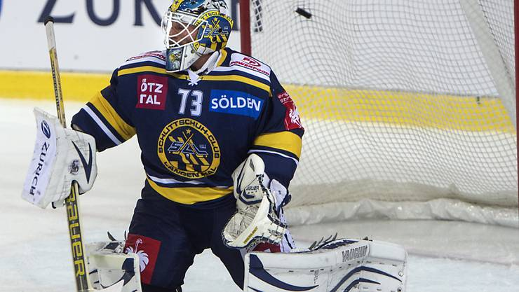 Langenthals Goalie Marco Mathis musste sich gegen Rapperswil nur zweimal geschlagen geben