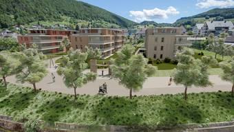 In Oberdorf sollen 66 neue Wohnungen entstehen, sobald ein passender Geldgeber gefunden worden ist.