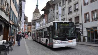 Die Altstadt von Aarau soll busfrei werden. Das Zumindest ist seit vielen Jahren eine Forderung.