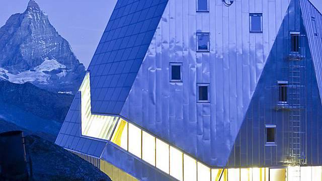 Solarpreis erhalten: Die Monte-Rosa-Hütte des SAC (Archiv)