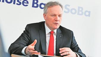 «Erfreulich»: Jürg Ritz, Chef der Baloise Bank SoBa, präsentierte die Geschäftszahlen für 2014.
