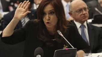 Die argentinische Präsidentin Cristina Fernandez de Kirchner empörte sich vor der UNO über Grossbritannien