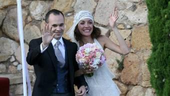 Andrés Iniesta und Anna Ortiz im Juli 2012 (Archiv)
