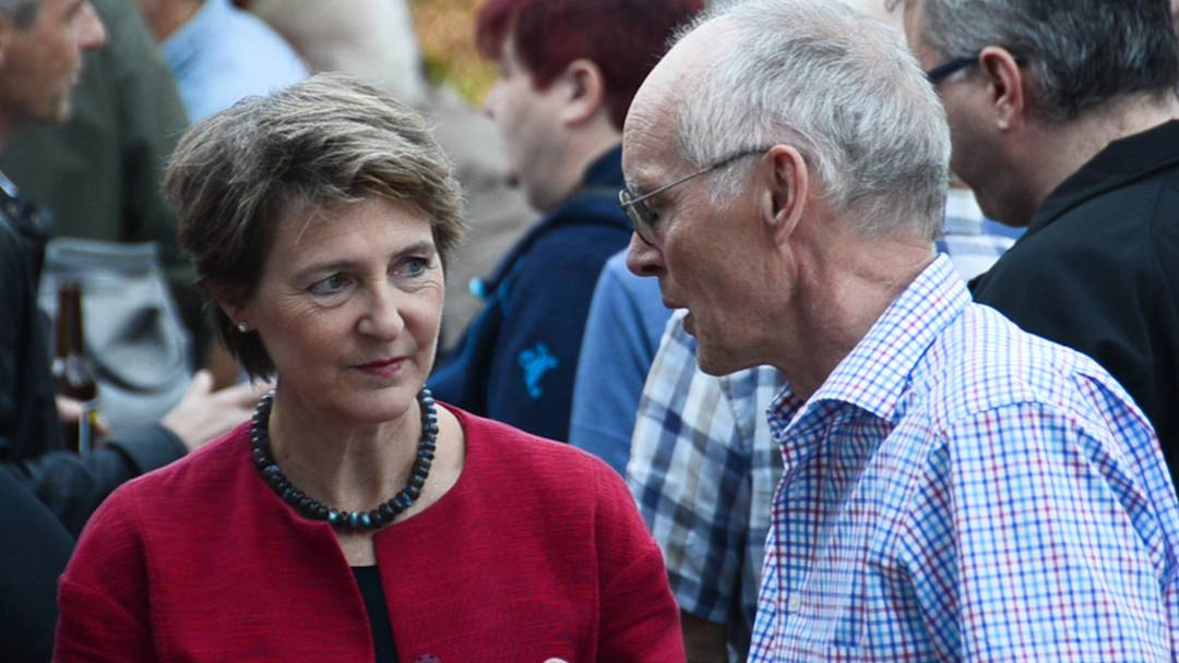 Impressionen vom SP Wahlfest mit Bundesrätin Simonetta Sommaruga auf dem Schlossplatz in Aarau