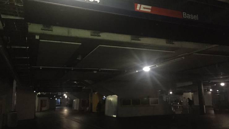 Es ist dunkel am Hauptbahnhof in Zürich