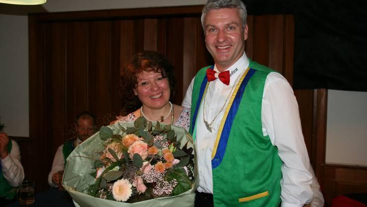 Obernärrin 2019 Christine I. mit Ober-Zagge Peter Wyss.