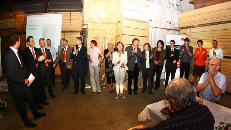 CVP Bremgarten: Unter Beifall wurden die 16 Kandidierenden für die Grossratswahlen vom Oktober vorgestellt. (Archiv)