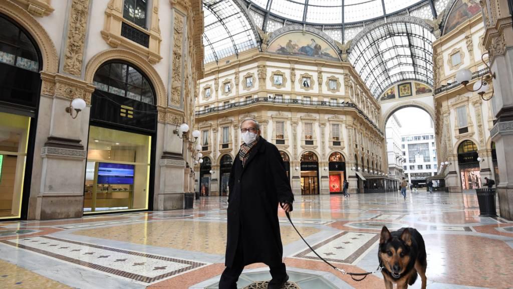 Coronavirus - Gassigehen erlaubt, Italiener greifen zur Leine
