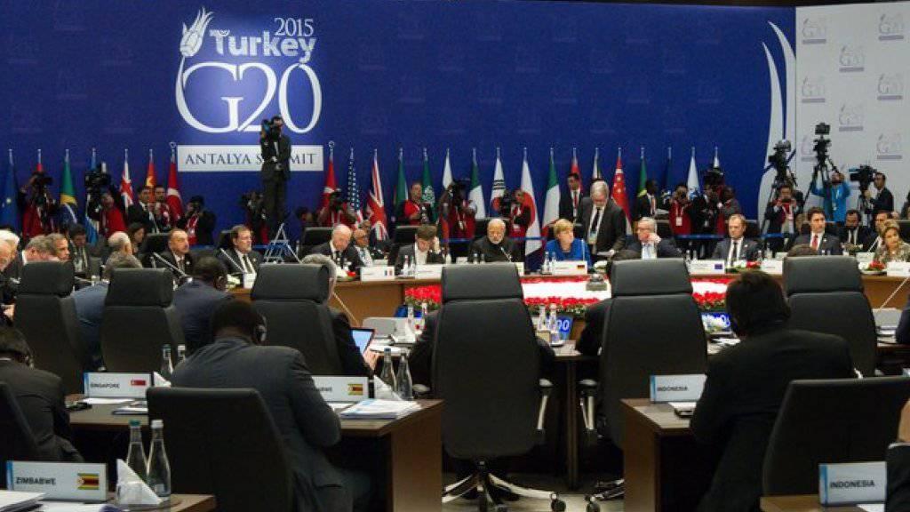 Mitglieder der G20 und Gäste beginnen im türkischen Belek mit der ersten Gipfelrunde.