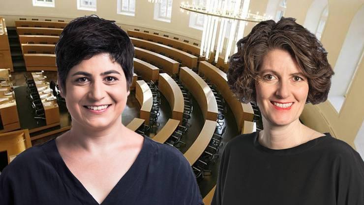 Silvia Dell'Aquila und Lelia Hunziker wollen eine temporäre Steuererhöhung für gewinnstarke Firmen.
