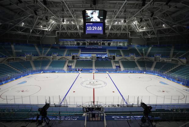 Die Eishockey-Halle für das olympische Turnier. Sie bietet 10'000 Zuschauern Platz.