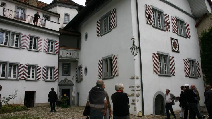«Kaufen oder nicht kaufen?»: Schloss Wildenstein steht für einmal dem Publikum offen. (Bild: Louis Probst)
