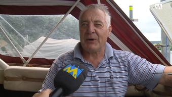 Arnold Probst - auch aus seinem Boot wurde der Motor ausgebaut und gestohlen.