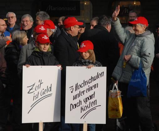 Campus Demo Auch die Jugend demonstrierte. Brugg 08.01.2011