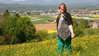 Désirée Stutz, hier auf einem Wahlkampfbild im letzten Herbst, ist seit Dezember 2019 Präsidentin der SVP-Fraktion im Grossen Rat.
