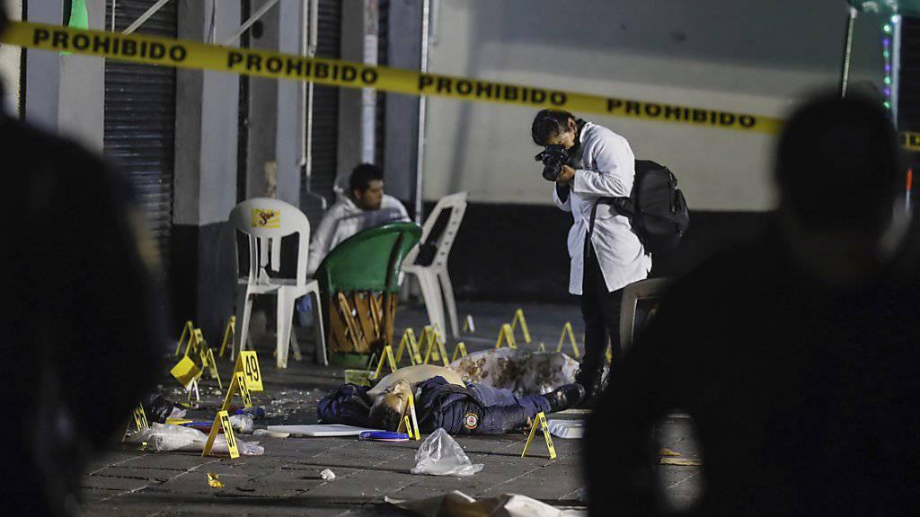 Inmitten feiernder Menschen: Die tödliche Schiesserei auf dem Garibaldi-Platz in Mexiko-Stadt ereignete sich am Freitagabend.