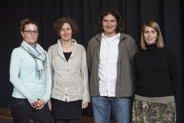 Das Schulsozialarbeiterteam (von links) Andrea Fried (Praktikantin), Monika Peter (Leiterin), Michael Kurz, Karin Messmer