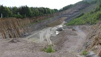 Statt aufgehoben, soll der Steinbruch bald vergrössert werden. Das passt den Bewohnern der Au in Veltheim nicht. Archiv AZ/LP