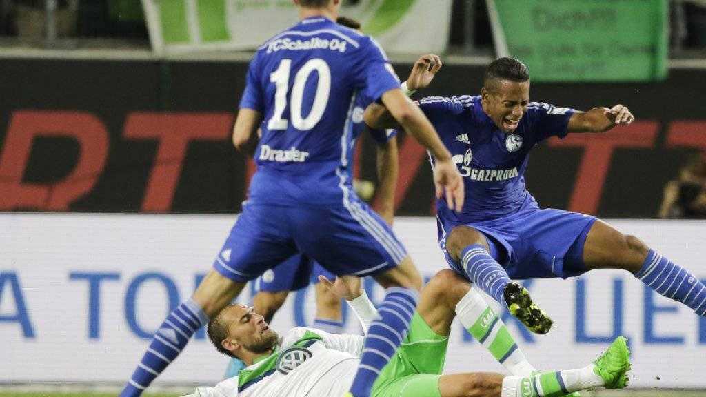 Ein Bild der Vergangenheit: Julian Draxler (Nummer 10) im Dress von Schalke gegen Wolfsburg