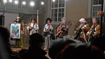 Als noch alles in Ordnung war: Die Schüufrohrsänger beim Höfli-Singen im Februar.