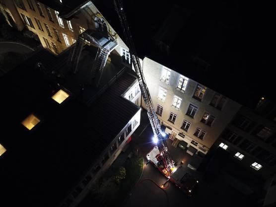 Die Feuerwehr Baden testete im Regionalen Pflegezentrum den Ernstfall.