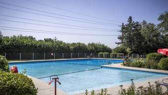Das Schwimmbecken verliert über 60'000 Lieter Wasser pro Tag.