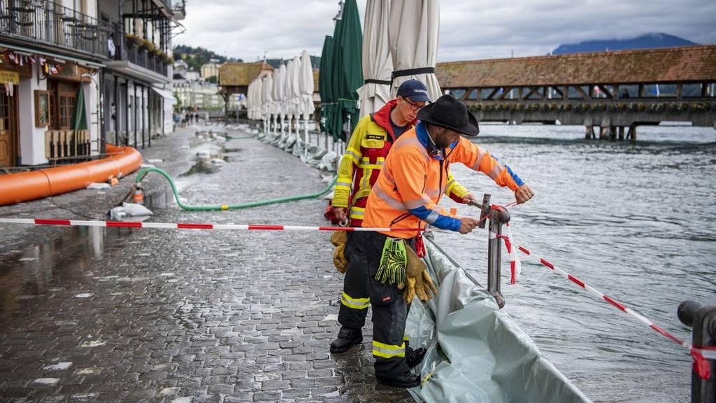 Brücken in Luzern gesperrt – über 60 Unwettermeldungen in Schaffhausen