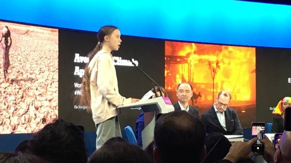 Greta Thunberg spricht am WEF