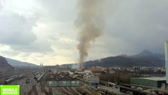 Grossbrand in SBB-Werstätte in Olten
