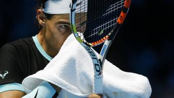 Ein hartes Stück Arbeit: Rafael Nadal gewann an den ATP-Finals in London auch sein drittes Spiel, in drei Sätzen gegen Landsmann David Ferrer