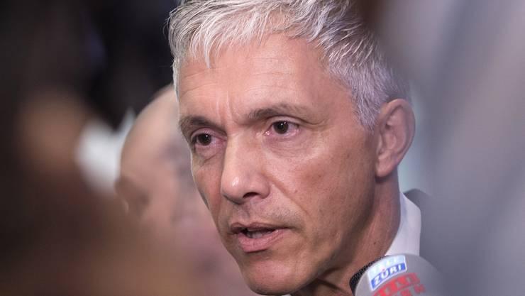 Bundesanwalt Michael Lauber aeussert sich zum Fall Fifa und zu seiner Wiederwahl.