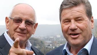 Der Badener Fredy Hiestand (links) mit Johann Dähler.rue