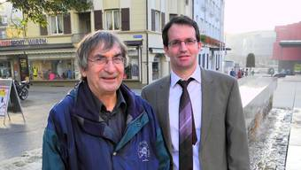 Die beiden Vorstandsmitglieder Rolf Beyeler und Reto Gasser.  om