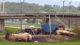 Güterzug bei Daillens VD entgleist