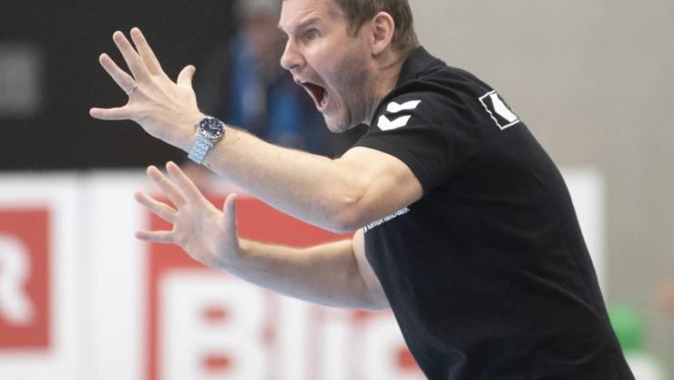 Der Schaffhauser Trainer Petr Hrachovec musste am Ende noch etwas zittern