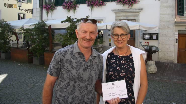 """Urs und Marianne Murer gewinnen ein Nachtessen im """"Alten Stephan""""."""