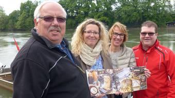 Sie haben die «Mumpfer Fähri 2013» zusammengestellt: Edi Schmid, Jeanette Berger Beatrice Meier, Reto Hofer (v.l.).