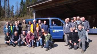 Mit dem neuen Fahrzeug soll auch die Bevölkerung auf den Einsatz der Bürgergemeinde für die Pflege des Waldes aufmerksam gemacht werden.