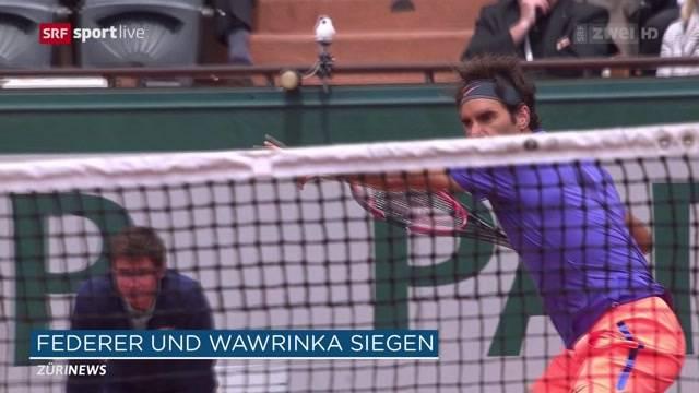 Federer und Wawrinka im Achtelfinale