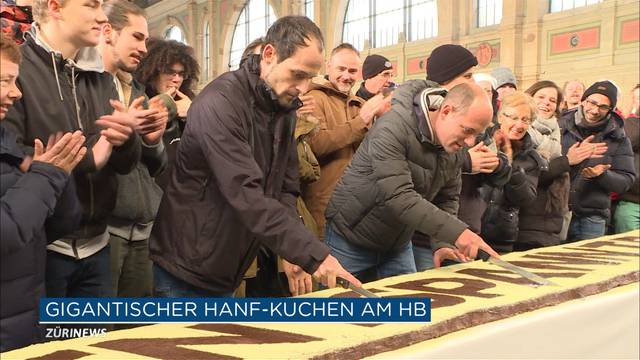 15-Meter-Space-Cake am Zürcher HB