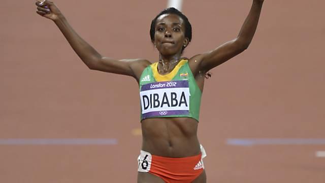 Tirunesh Dibaba wiederholte ihren Coup von Peking 2008.