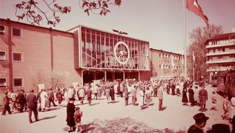 1957 stand die Muba vor einem Boom, der fast Jahrzehnte anhielt. Im Bild die 1953 erbaute Rundhofhalle.