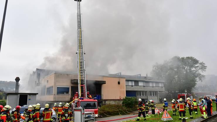 Grossbrand in der Härterei Schmid in Dulliken