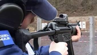 Schusswaffen-Übung bei der Kapo Aargau (Symbolbild)