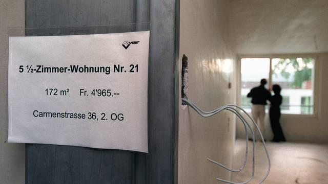 Besonders im Raum Zürich platzen die Mieten aus allen Nähten
