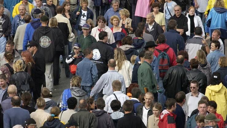 Der Kanton Aargau im Wachstum: Prognostiker rechnen bis 2035 mit einer Steigerung um 145 000 auf 742 000 Einwohner. (Archiv)