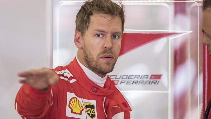 Sebastian Vettel startet als Ferrari-Fahrer zum zweiten Mal aus der Pole-Position