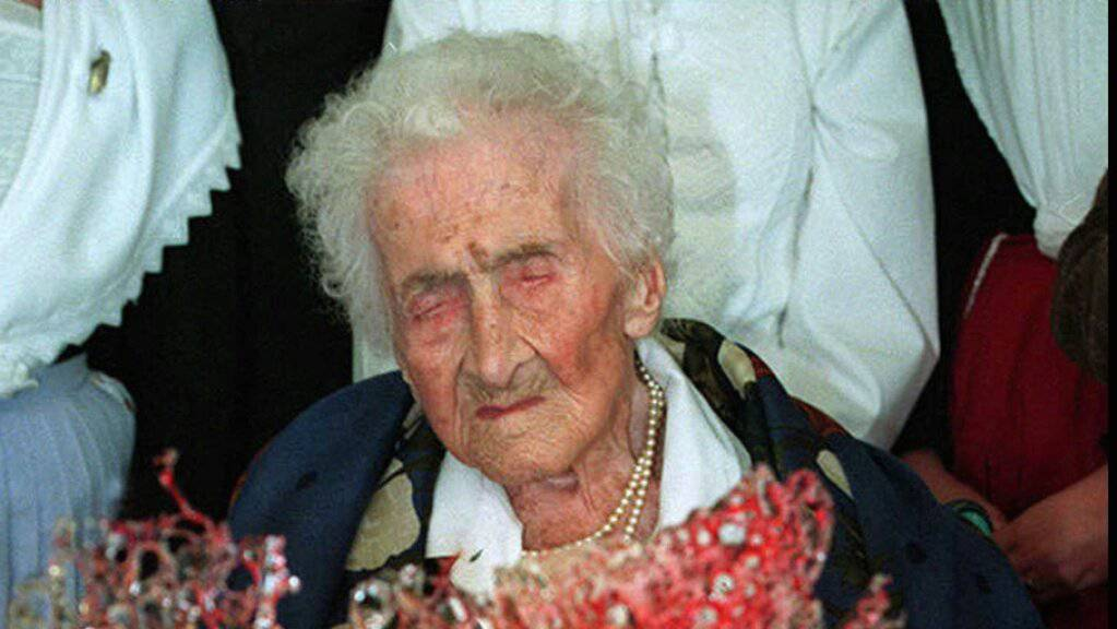 Die Französin Jeanne Calment starb 1997 mit 122 Jahren. Sie hält gemäss Statistik den Altersrekord. (Archivbild)
