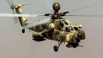 Ein russischer Kampfhelikopter vom Typ Mi-28N (Symbolbild)